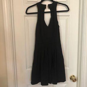 Banana republic pleated flare dress
